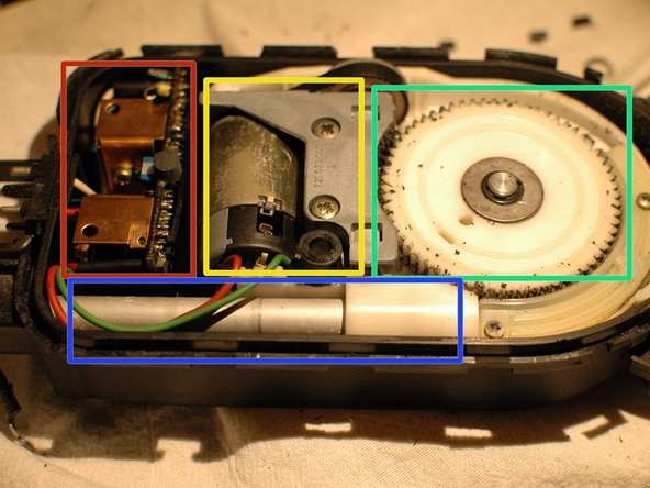 The basic internal components of the motor are as follows: