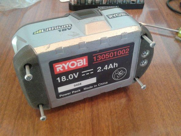 Cell Re-balance of Ryobi One+ 18V Li-ion Battery (130501002)