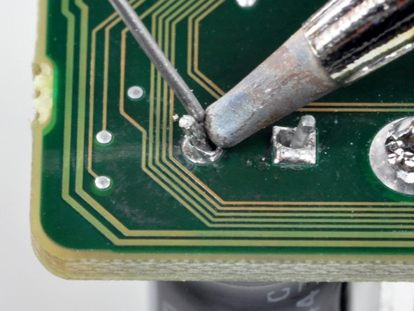 To solder each connection: