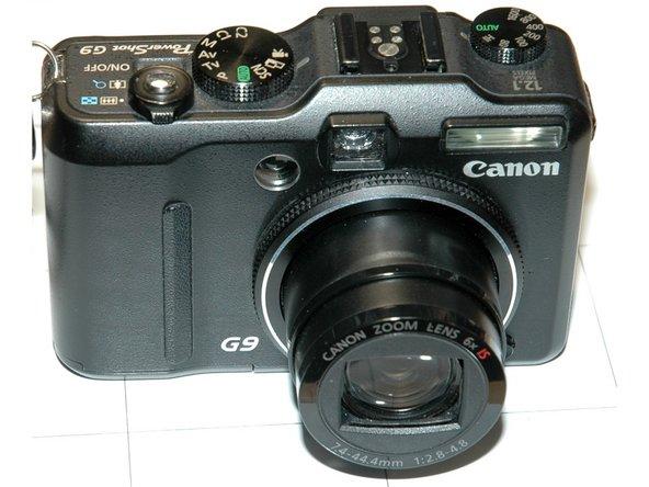 Canon PowerShot G9 SD-Card Slot Write Lock.