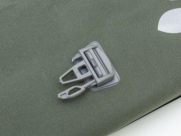 How to replace a broken buckle on an Aqua Back bike bag.