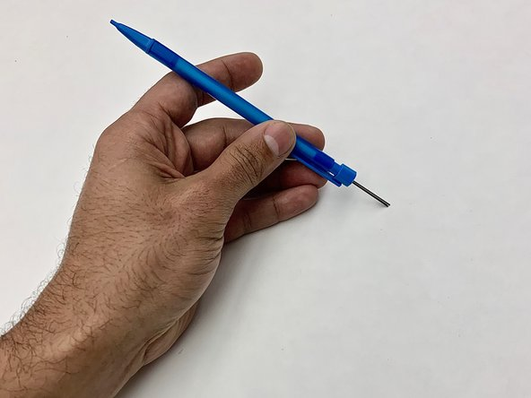 Remove the graphite lead from the pencil.