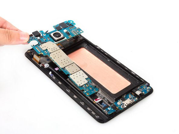 Release USB board connector on the back and remove the whole motherboard.