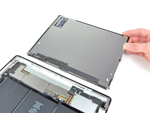 Remove the LCD assembly from the rear panel assembly.