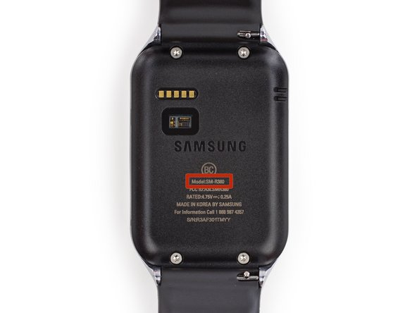 Our Gear 2 may not be spy-issue, as it still exhibits identifiable markings: Model No. SM-R380.