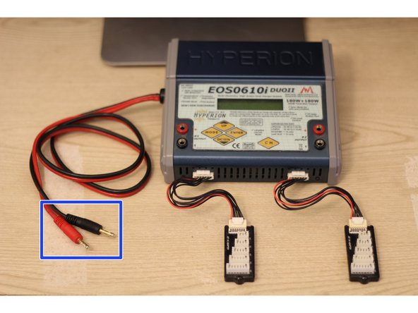Disconnect the DC power banana plugs from any power source.