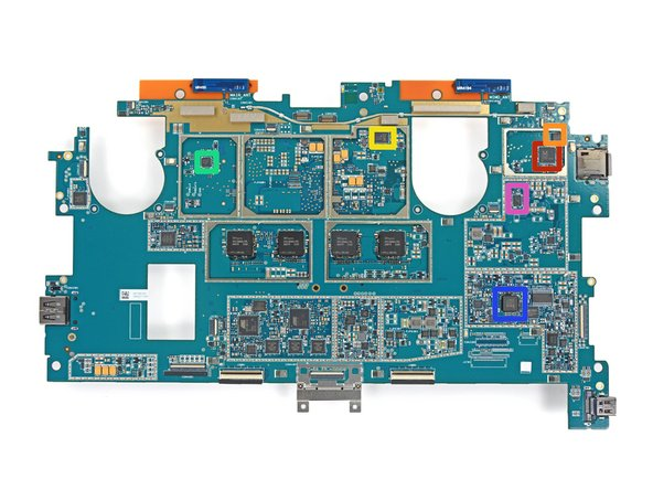Yet more ICs adorn this side of the motherboard: