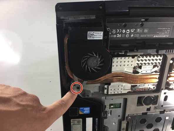 Use a Phillips #0 screwdriver to remove the two 3mm screws holding the fan in place, then unclip the electrical connection using tweezers.