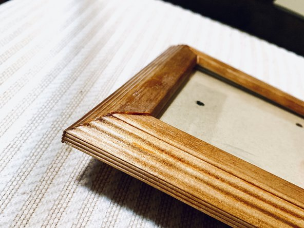 After letting sit overnight, your glue should be dry and your frame should be as good as new!