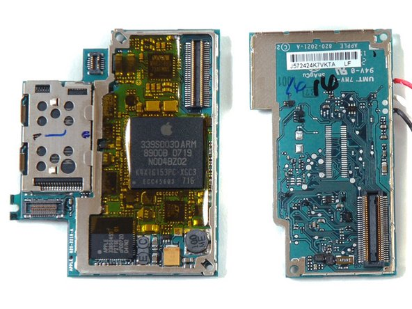 After further examination, we found a way to open the logic board without completely destroying it.