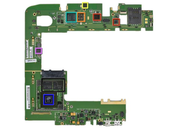 Front side of the motherboard (here's the gigantic version):