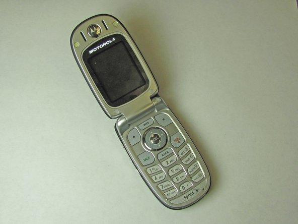 Flip open your Motorola C290.