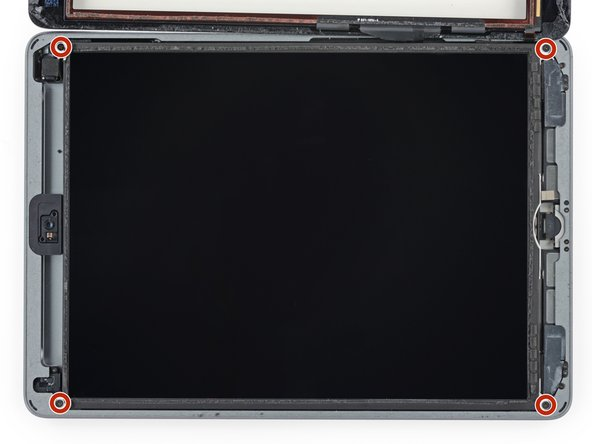 Use a Phillips screwdriver to remove the four 4.3 mm-long screws securing the LCD to the frame.