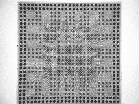 Before dismantling it, Chipworks took an X-ray image of the A4 processor to get a feel for how things are laid out inside.