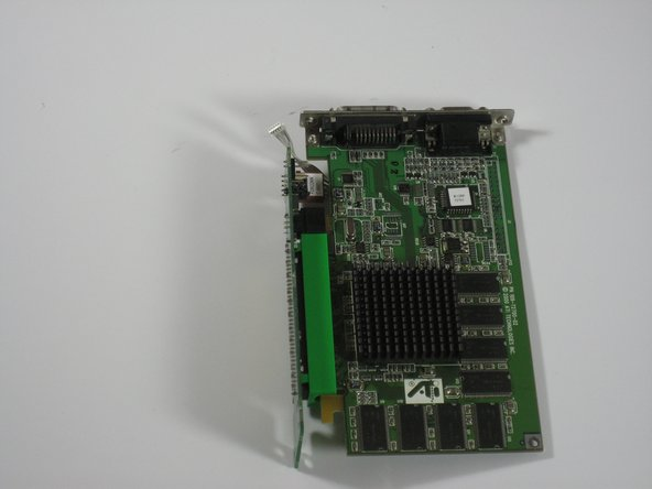 Separate the video card from the adapter.