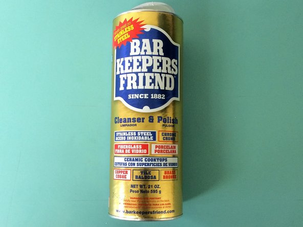"""Obtain a product called """"Bar Keeper's Friend""""."""