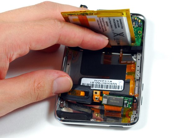 Removing the battery.