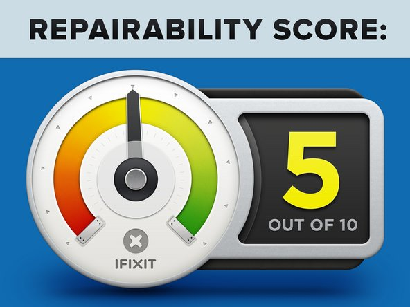 The Xiaomi Mi Watch earns a 5 out of 10 on our repairability scale (10 is the easiest to repair):