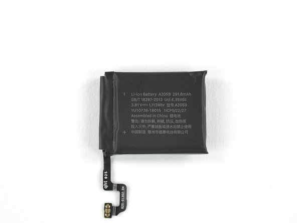 Here's the built-in battery powering the Watch—no self-winding action here!