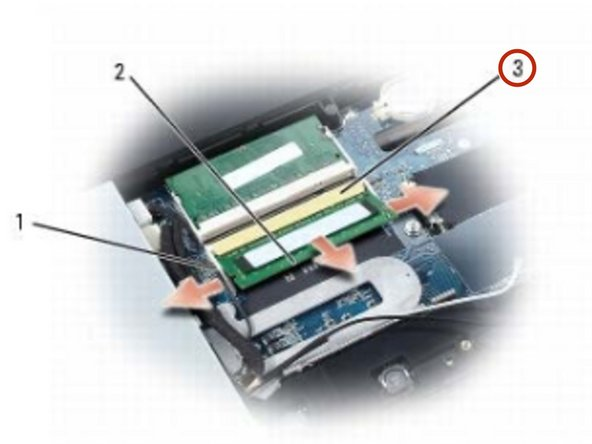Align the notch on the edge of the memory module connector with the tab in the connector on the system board, and slide the module firmly into the connector at a 45-degree angle.