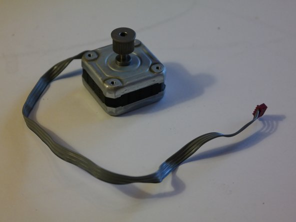 A closer look at the stepper motor.