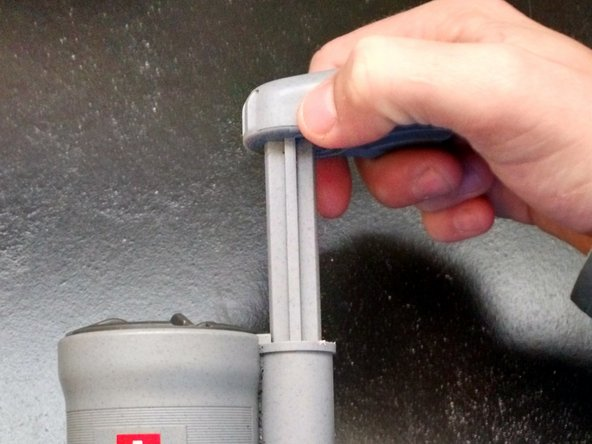 Remove the pump handle by pulling it completely out of the shaft.