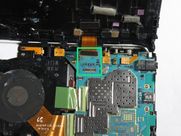 Gently pull the connector away from the motherboard.