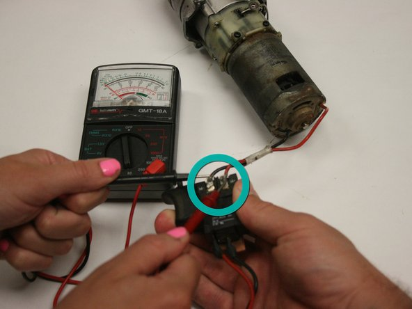 With the battery attached, check that the wires work when the trigger is pulled.