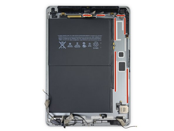 In the next steps, you will use an iOpener to apply heat to the rear case of the iPad to soften adhesive holding the logic board in place.