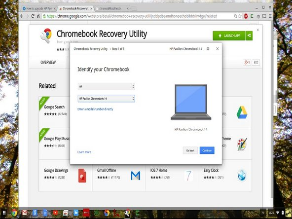 """Make a backup of existing SSD so you can restore the chromeos image into the new SSD. The backup is done with the """"Chromebook Recovery Utility"""" from chrome web store as shown in 1st image. You will need a empty 4gb thumb drive."""
