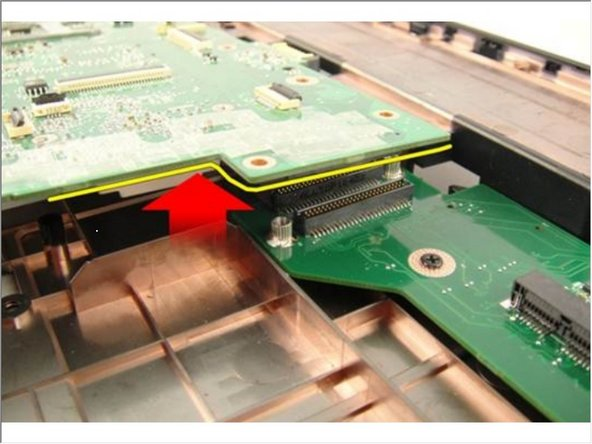 Disconnect the system board from the Input/Output panel.
