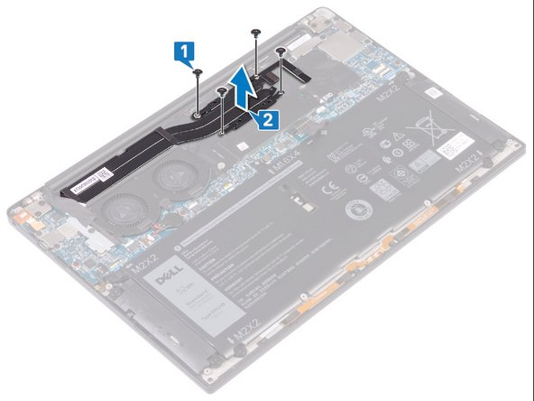 Replacement of the ventirad on the Dell XPS 13 9380