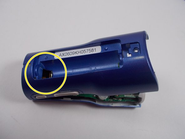 The battery contact springs may prevent the case from separating.