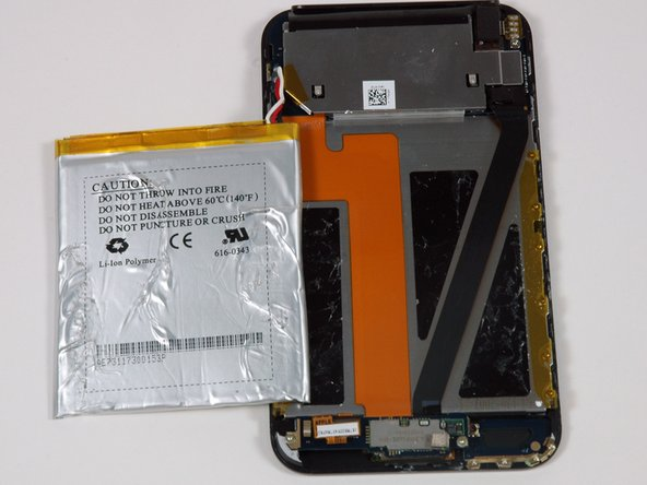 The huge touch-display lies beneath the battery.
