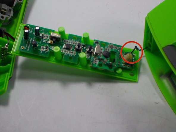 Disconnect circuit board from power leads, and install new circuit board.
