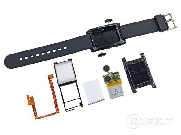 Smartwatches might be the next big thing, but—right now—the Pebble is a unique device. We don't have a repairability metric for a watch…yet.