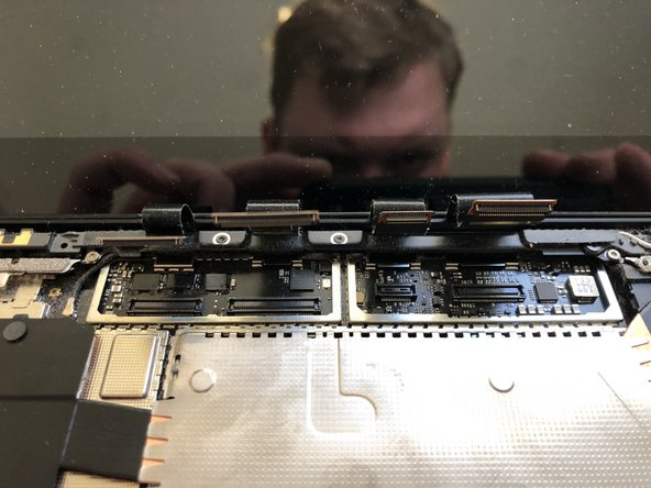 Unclip the connectors. They are pretty tight so I'd suggest using a spudger or 2.