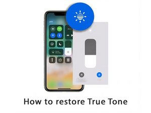 How to restore True Tone after screen replacement on iPhone XS Max