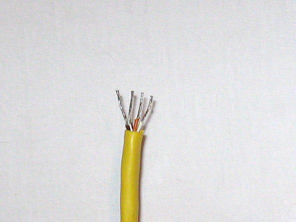 Prep the cable. Strip the sheathing from the wires that correspond to pins 1,2,7 & 8.