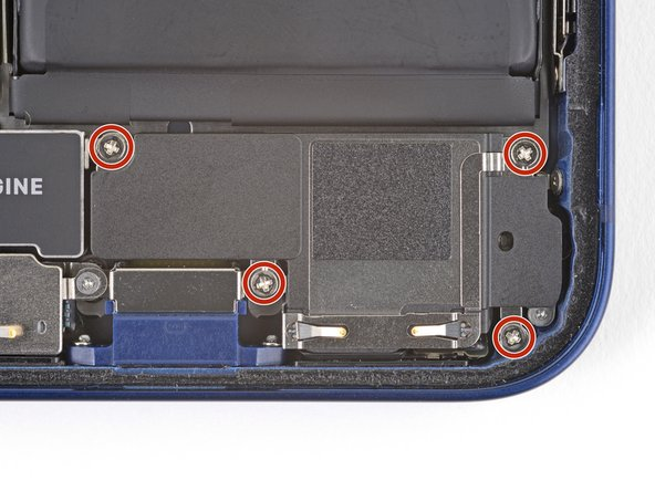 Use a Phillips driver to remove the four 1.6 mm screws securing the loudspeaker.