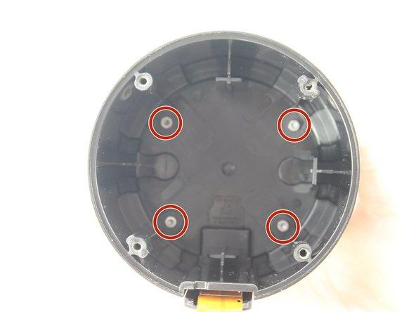 Remove the four 16.0 mm T8 Torx screws underneath the speaker.