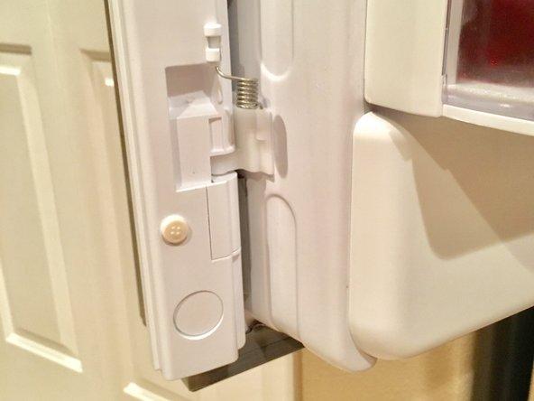 Replacing Spring in Refrigerator Door