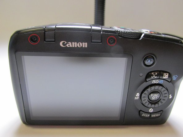 Canon PowerShot SX120 IS Back Cover Replacement