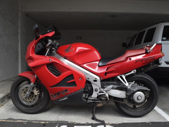 How to Replace the Front Brake Pads on a 1994 Honda VFR 750