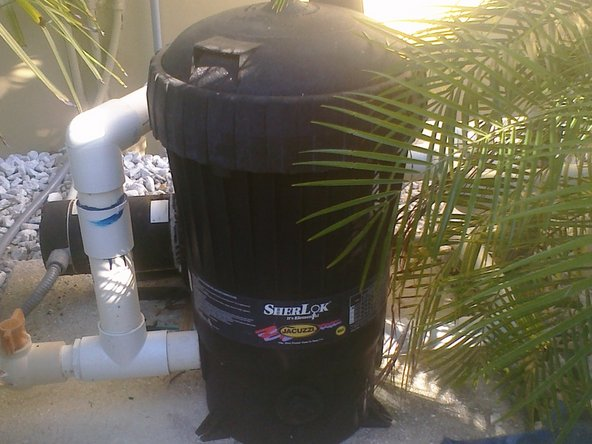 Next locate the pool filter. D.E. and cartridge filters can be easily maintained by you.