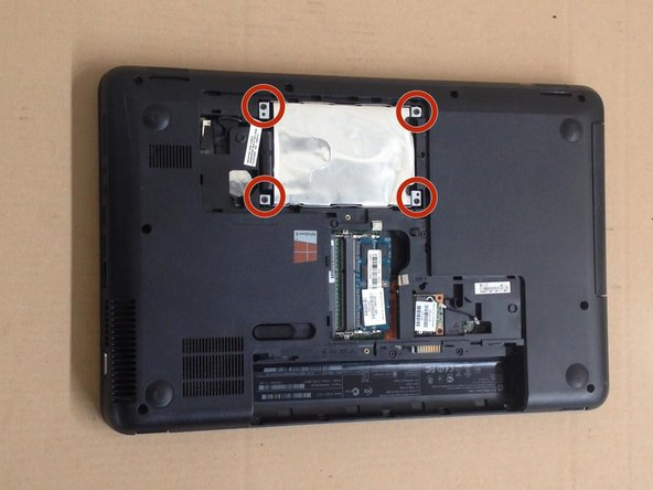 Remove the 4x screws and take out the HDD.