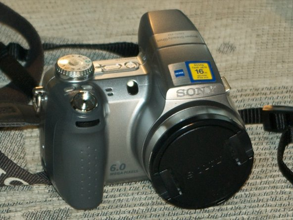 This is the Sony DSC-H2 we are going to tear down.