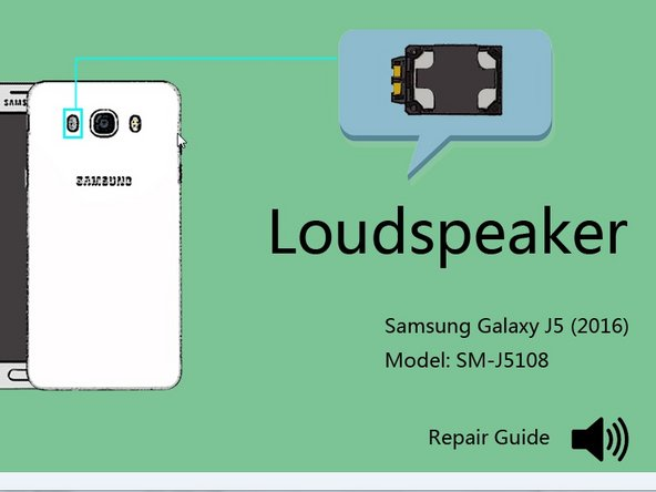 How to replace the speaker of Samsung Galaxy J5 (2016)