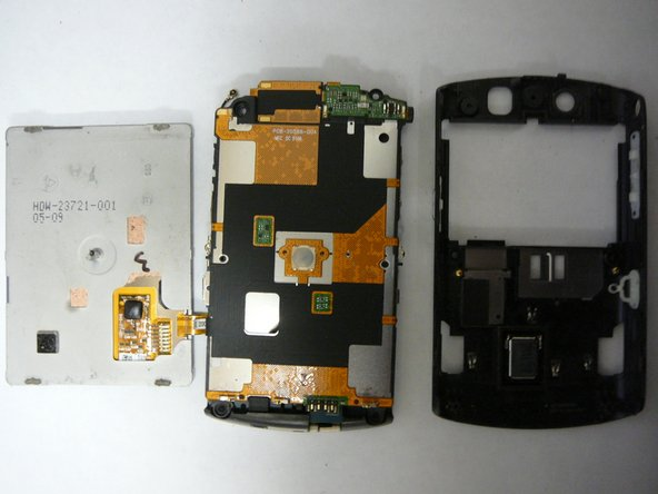 Now remove the logic board & LCD assembly from the rear housing. Be gentle, and do not use excessive force.