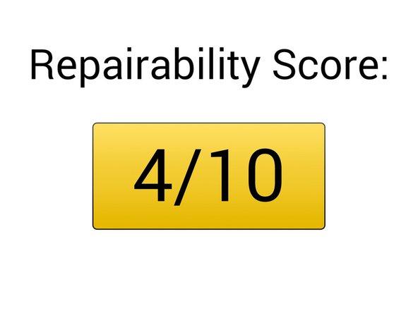 Repairability Score: 4/10